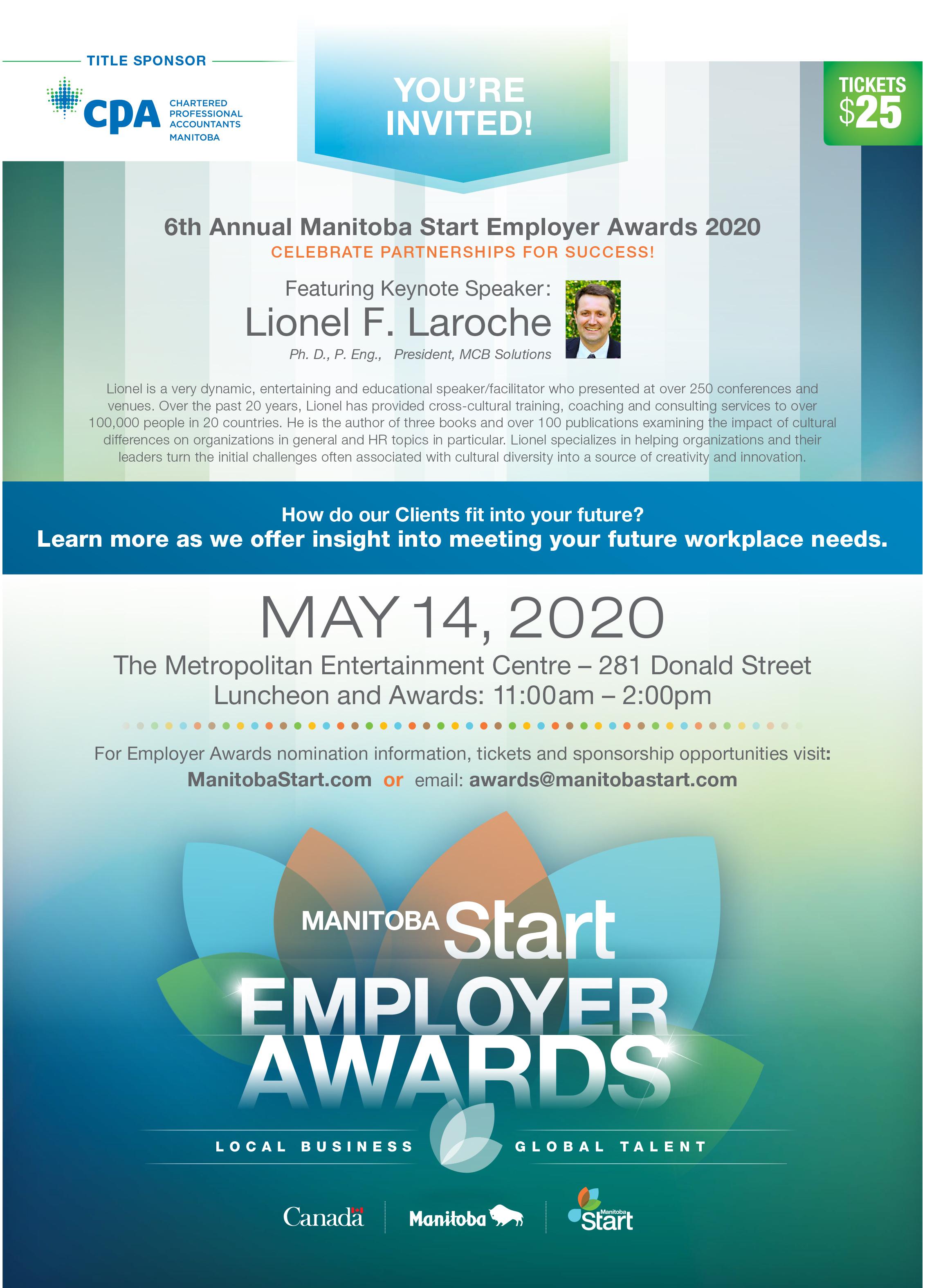 2020 Employer Awards Invitation