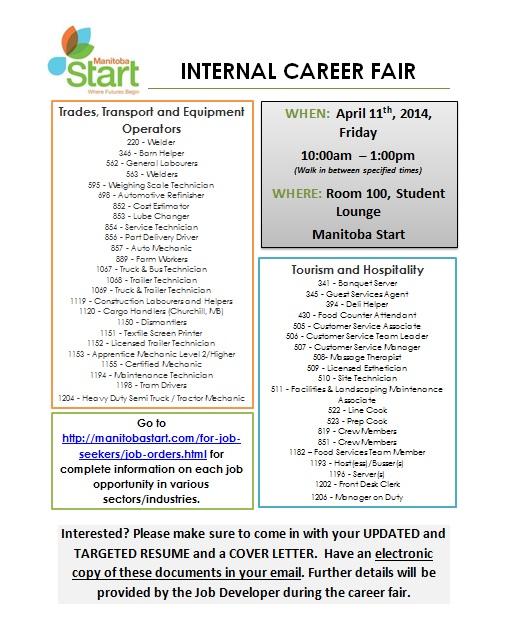 Manitoba Start – Internal Job Fair | Manitoba Start