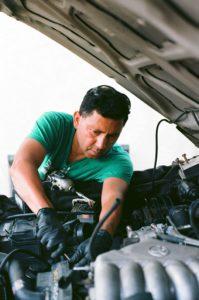 Skilled mechanic at work