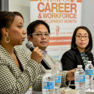 Speakers at Career information event